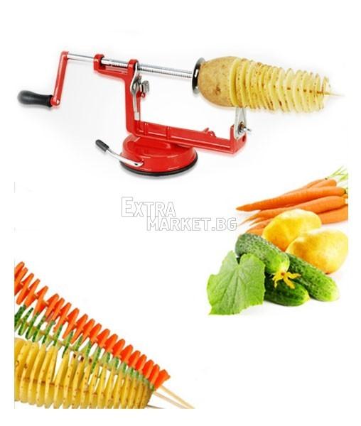 Спирала от картоф-лесно с машинка за домашно ползване