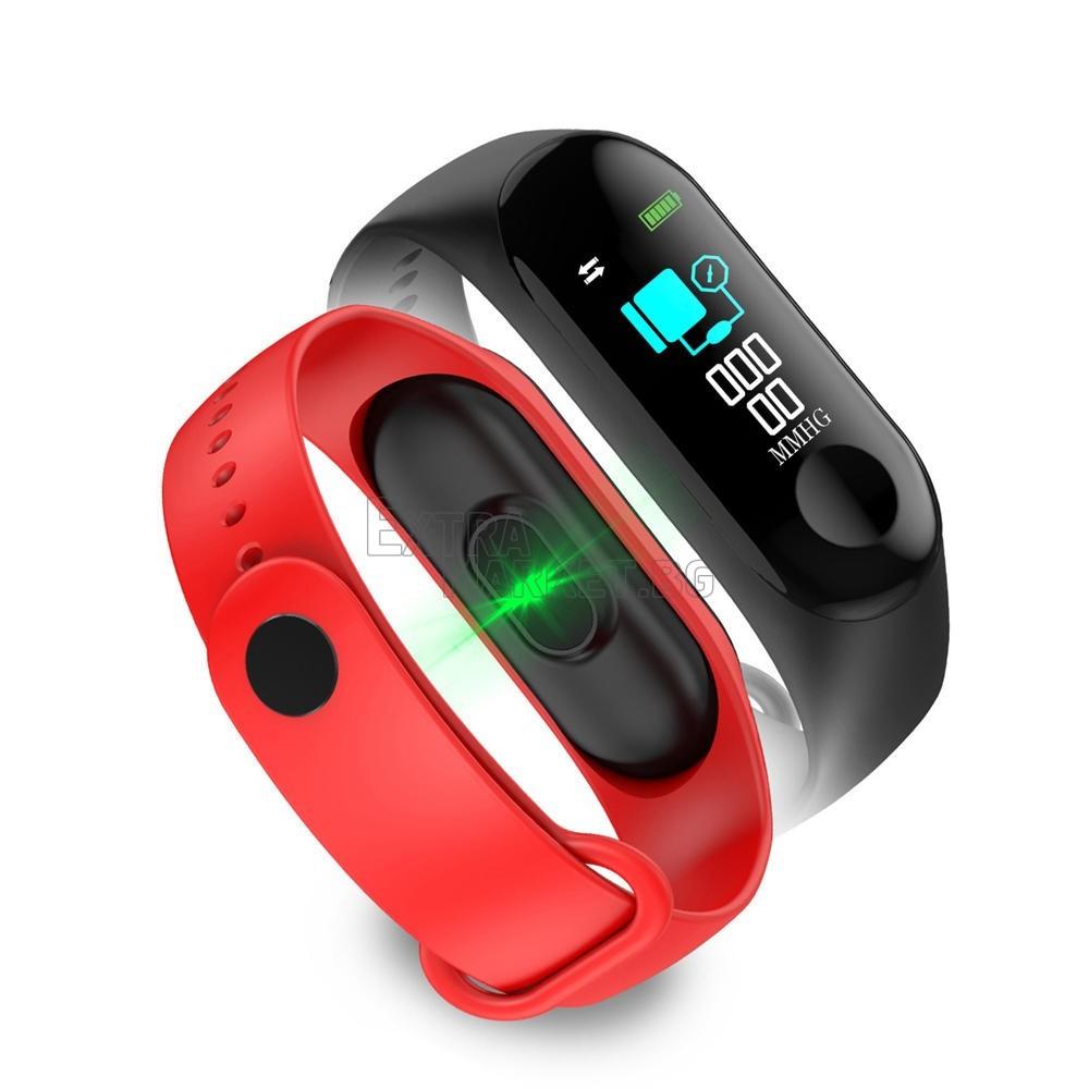 Фитнес смарт силиконова гривна-часовник М3