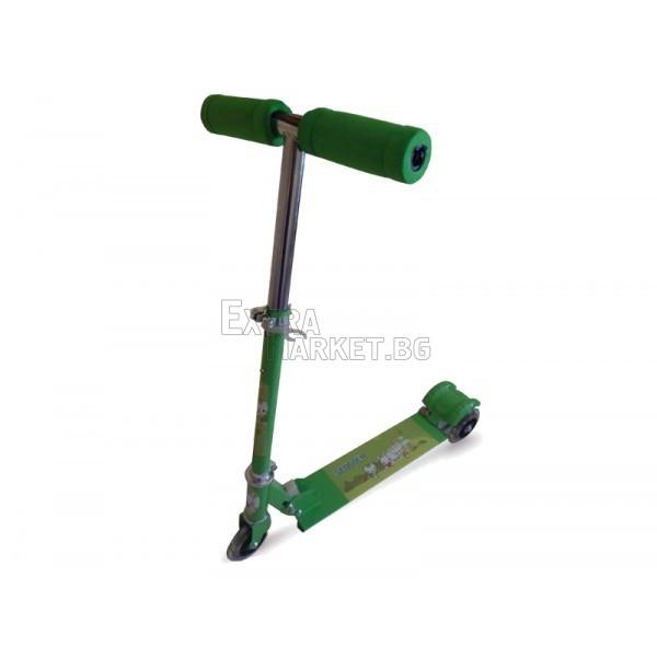 Метална лека детска тротинетка с 3 гуми Scooter