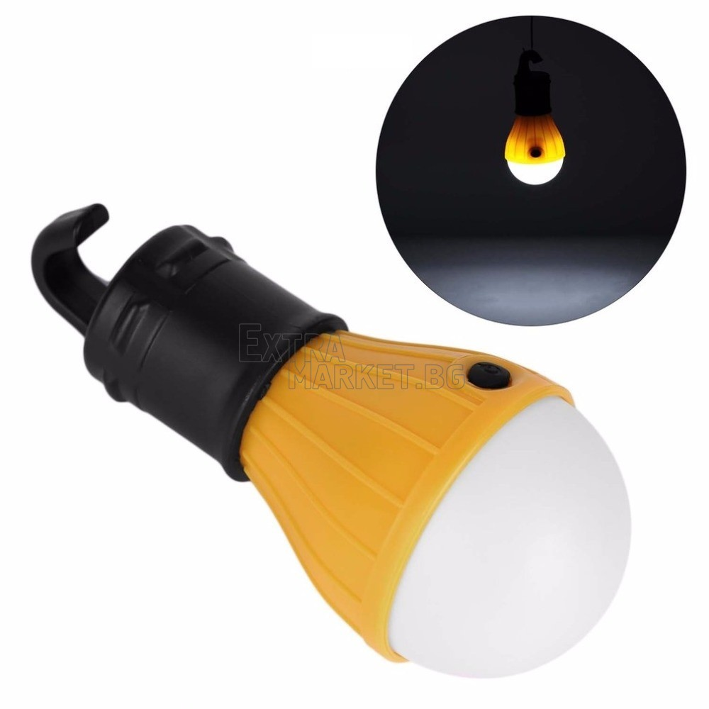LED лампа-крушка за къмпинг