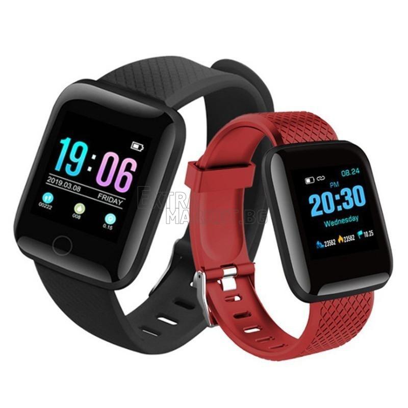 Влагоустойчива смарт гривна Smart Bracelet 116 plus с много функции