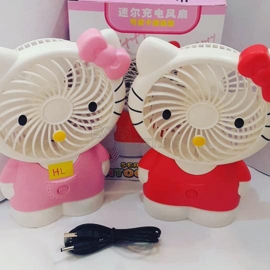Мини вентилатор с презареждаема батерия Hello Kitty