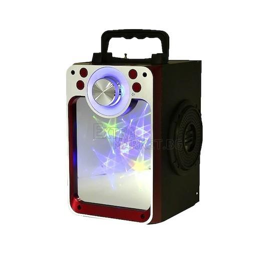 Безжична Bluetooth колона със стъклен цветен преден панел калейдоскоп