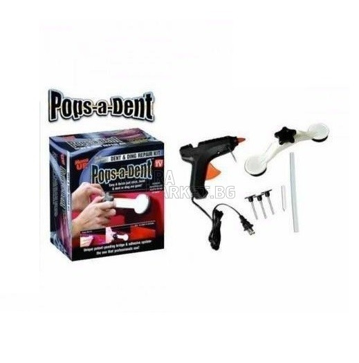 Pops-a-dent уред за изправяне на автомобилни вдлъбнатини