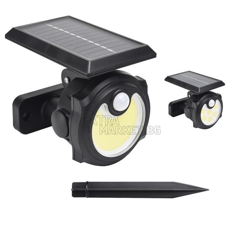 Соларен прожектор 42 COB LED Диода за градина-двор