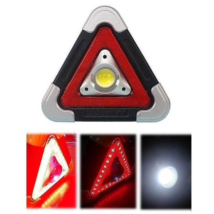 Лед акумулаторен авариен COB триъгълник LED прожектор със соларно зареждане