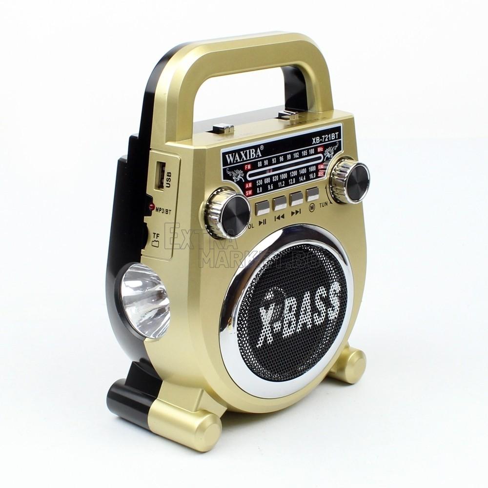 Радио-музикална система bluetooth с фенер и антена