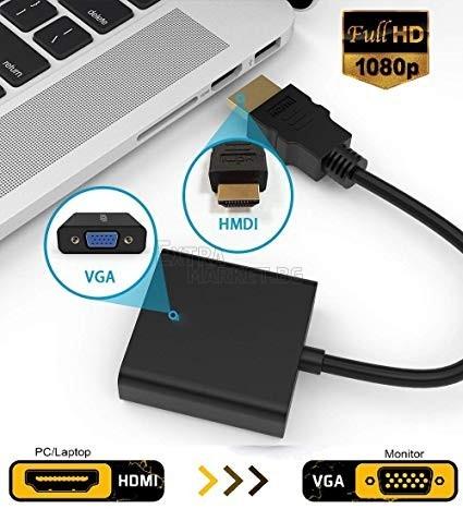 HDMI към VGA преобразувател-адаптер (Връзка на Компютър или Лаптоп с монитор/телевизор/проектор)