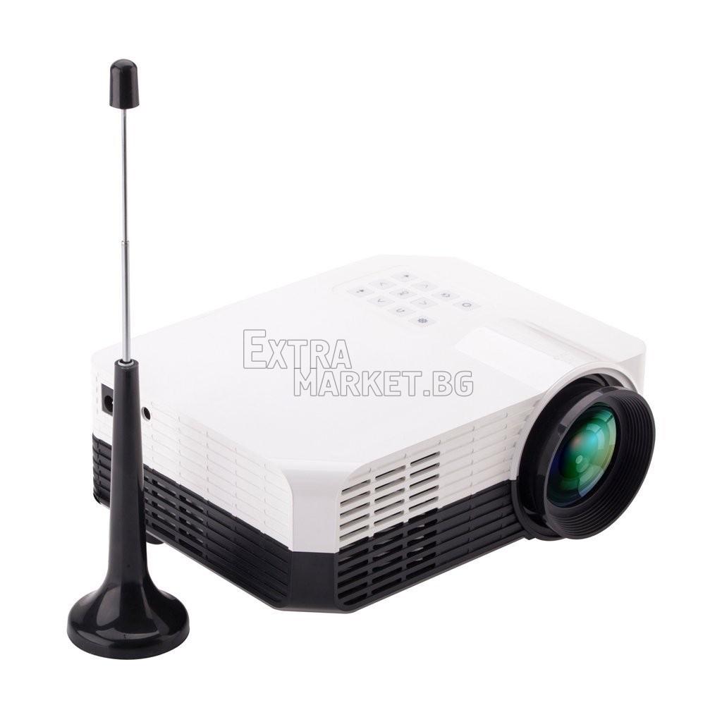 Проектор за домашно кино и презентации (LED технология с WI-FI приемане)