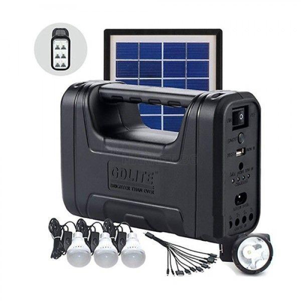 LED Соларна система за осветление GD LITE-GD8007-зарядно за телефон