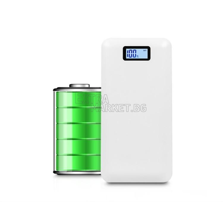 Мобилна батерия Power Bank с дисплей 30000 mah за телефон