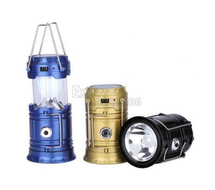 Къмпинг соларен фенер SH-5800T
