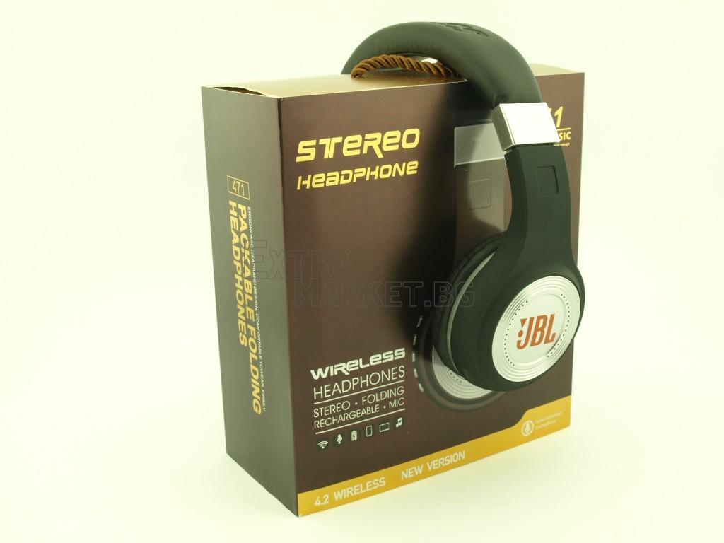 JBL Bluetooth-безжични stereo TFT дисплей слушалки