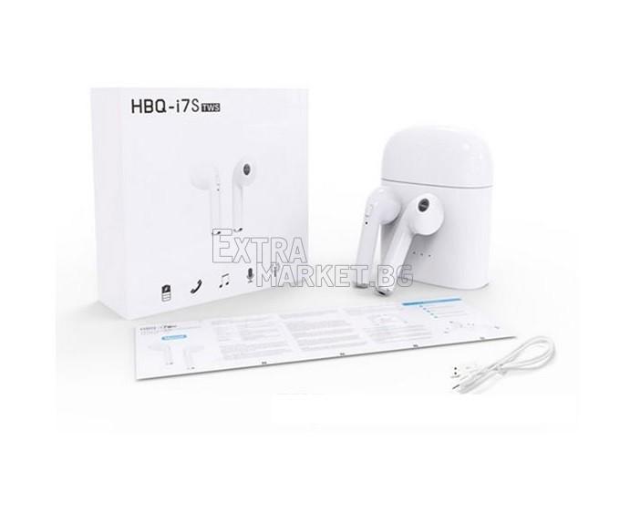 Безжични (HBQ i7S tws) Bluetooth 4.1 слушалки за шофиране и музика