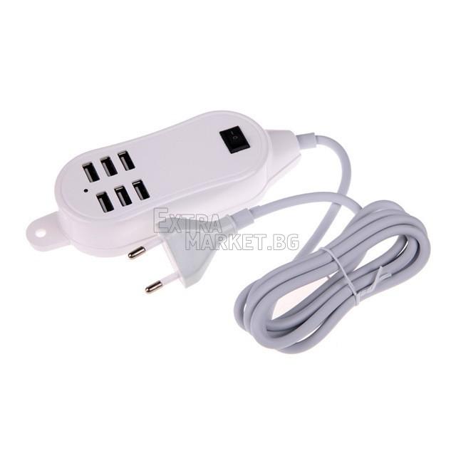USB разклонител 30 вата (6 порта)