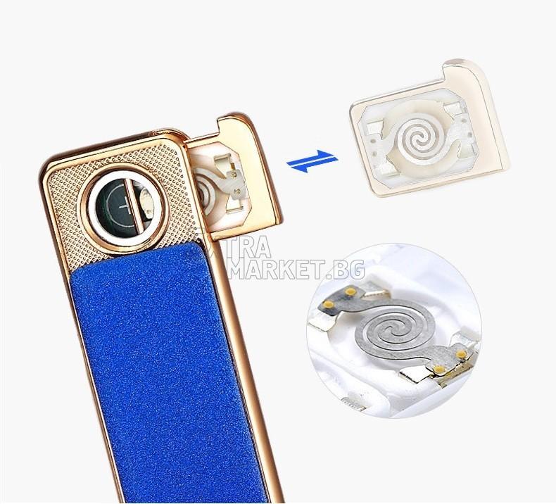 Луксозна USB електронна запалка с резервни нагреватели