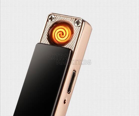 Луксозна плъзгаща се USB електронна запалка