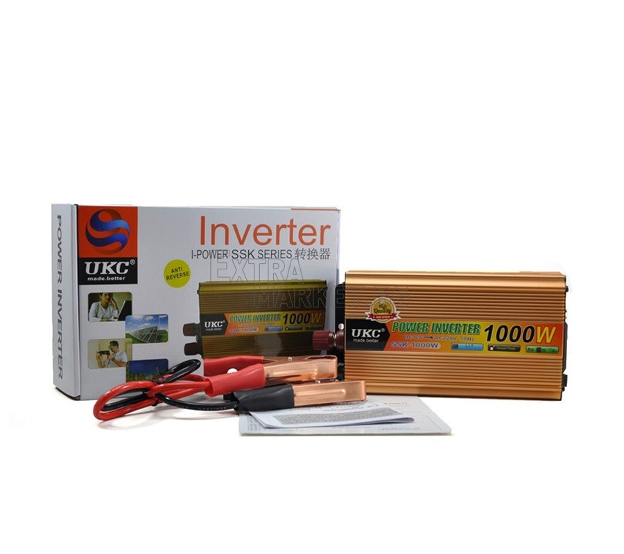 UKC 1000W Инвертор-преобразувател на ток от 12V на 220V