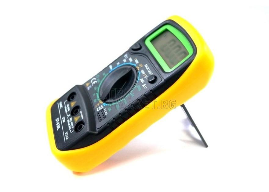 Мултиметър DT830L с осветление и големи символи