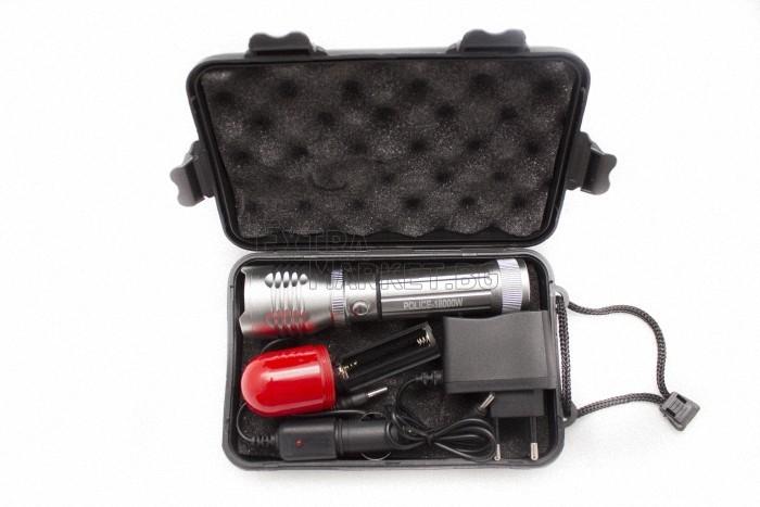 Фенер (18000W police) Диод CREE Q3-WC-сигнален червен режим