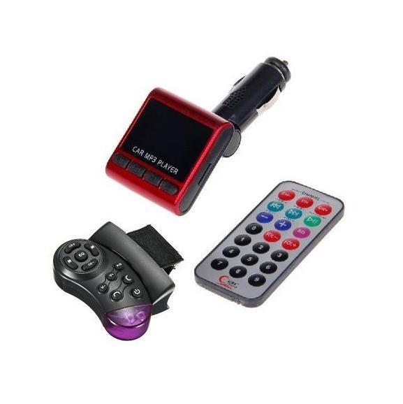 FM трансмитер за слушане на MP3 файлове с дистанционно за волан