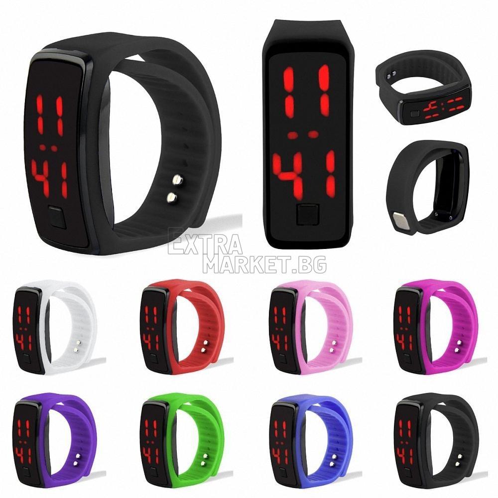 LED дигитален часовник-гривна от силикон за фитнес