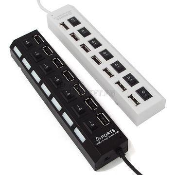 USB разклонител (Хъб) за лаптоп или компютър 1 към 7