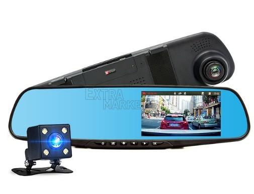 Огледало-видеорегистратор с 4.3 инча дисплей и светеща задна камера