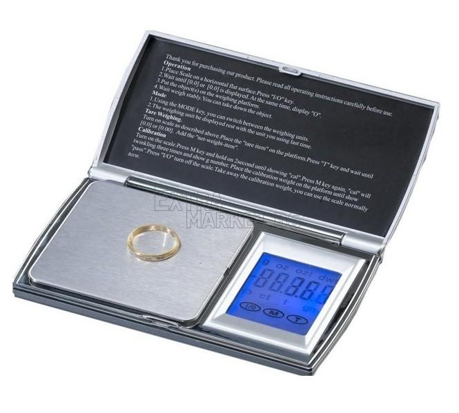 Луксозна бижутерска дигитална везна с тъч скриин - 0.01/200 гр.