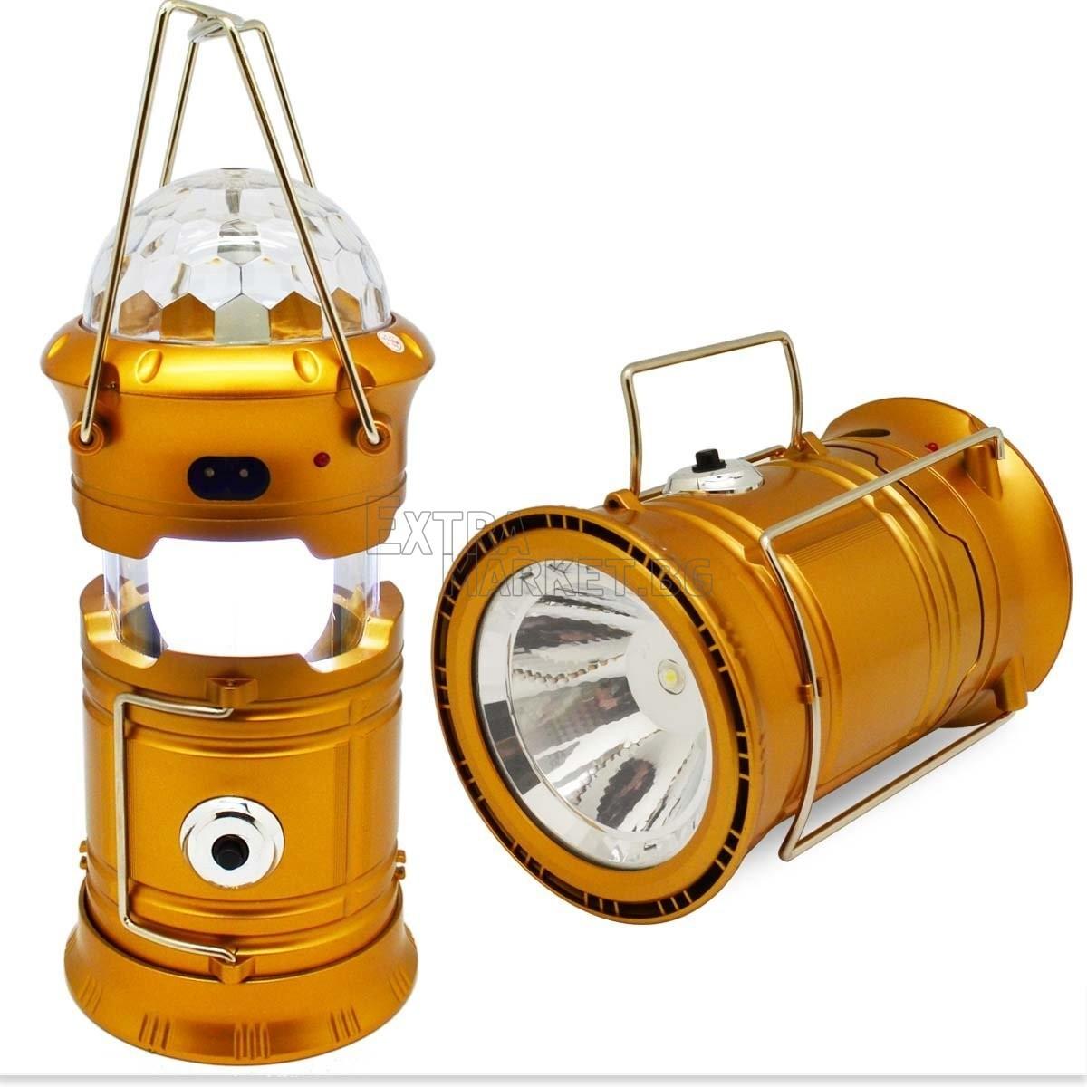 Къмпинг фенер с диско ефект SH-5801