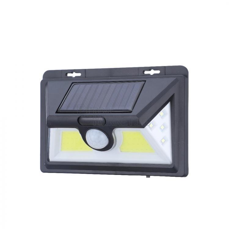 Соларна лампа за външен монтаж 1828B с COB/LED диоди и сензор за движение