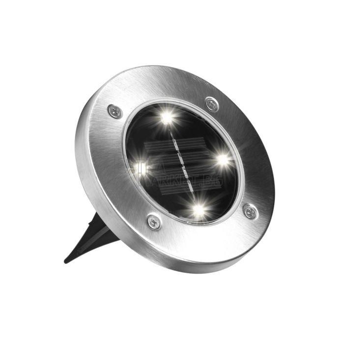 Соларна лампа за пътеки/градина (кръг)