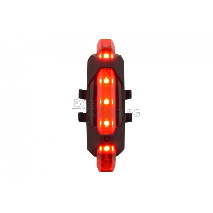 Предупредителна LED светлина за колело
