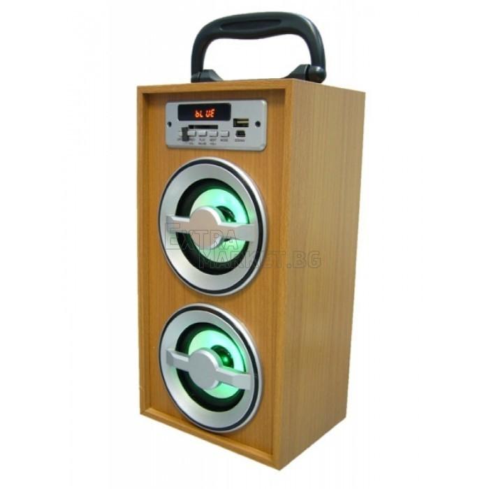 Дървесна музикална Bluetooth система с дистанционно управрение