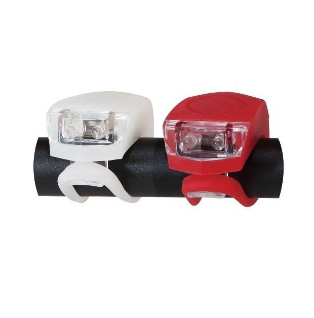 Комплект сигнализиращи светлини (бяла и червена) за велосипед