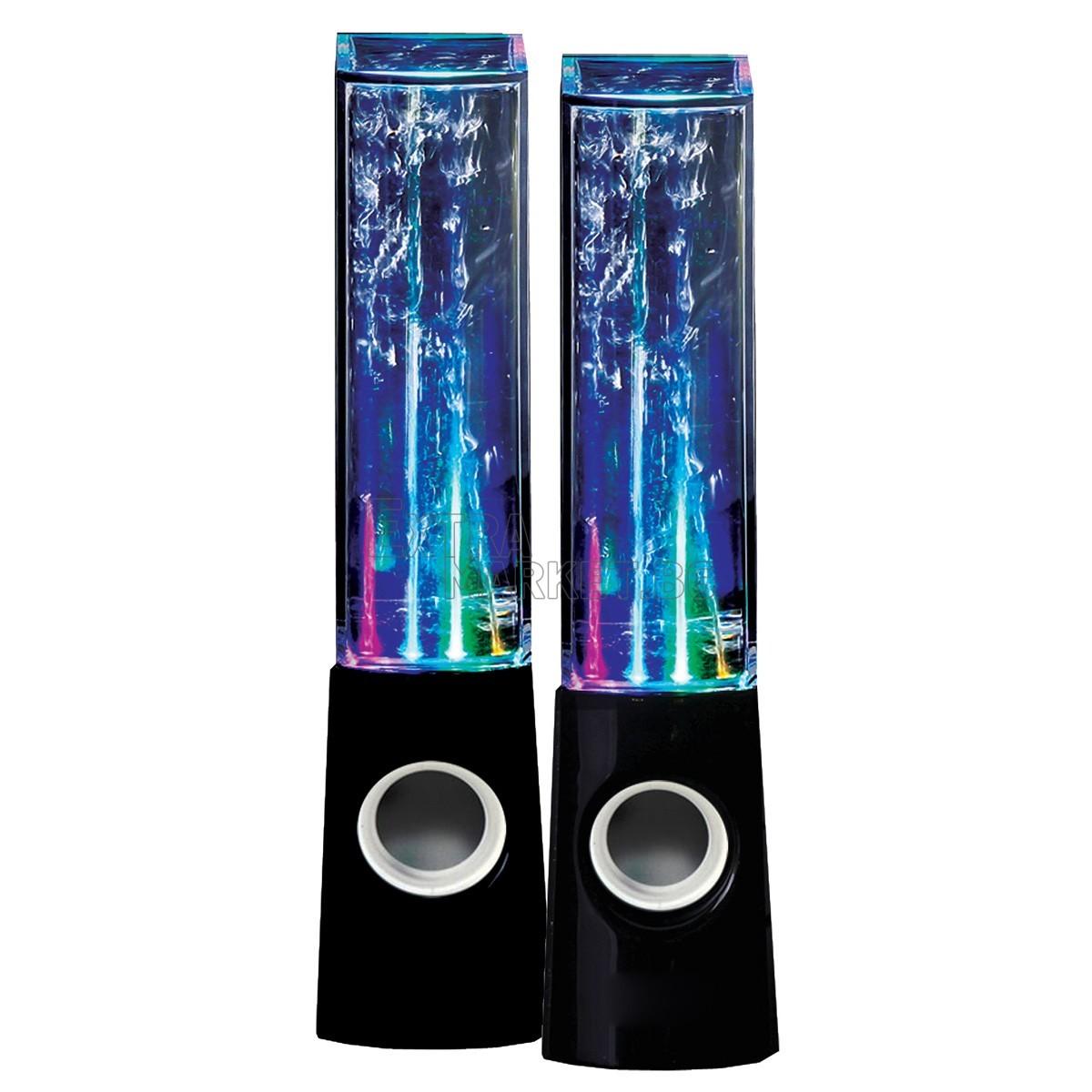 Аудио колонки за компютър с истински водни фонтани