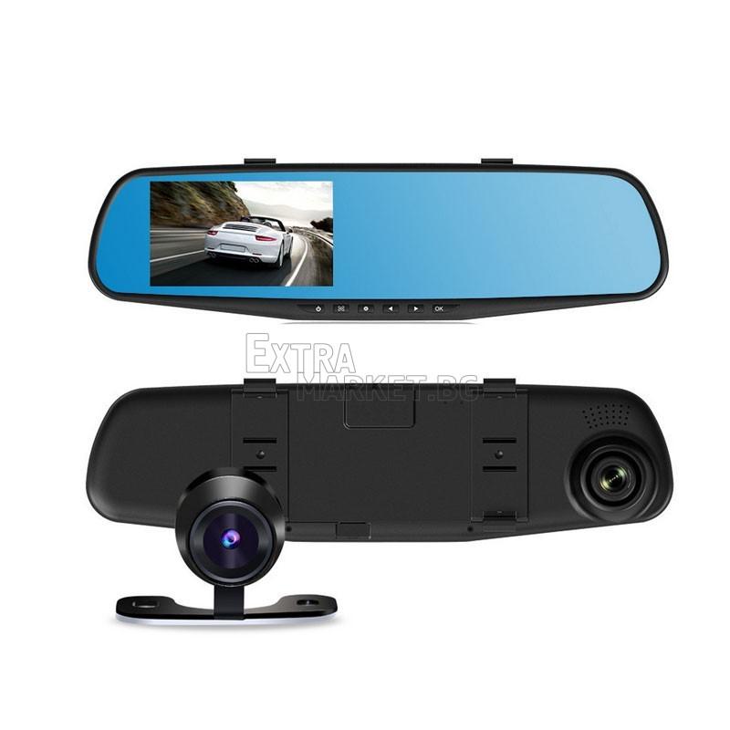 Огледало-видеорегистратор с две камери и 3.8 инчов дисплей