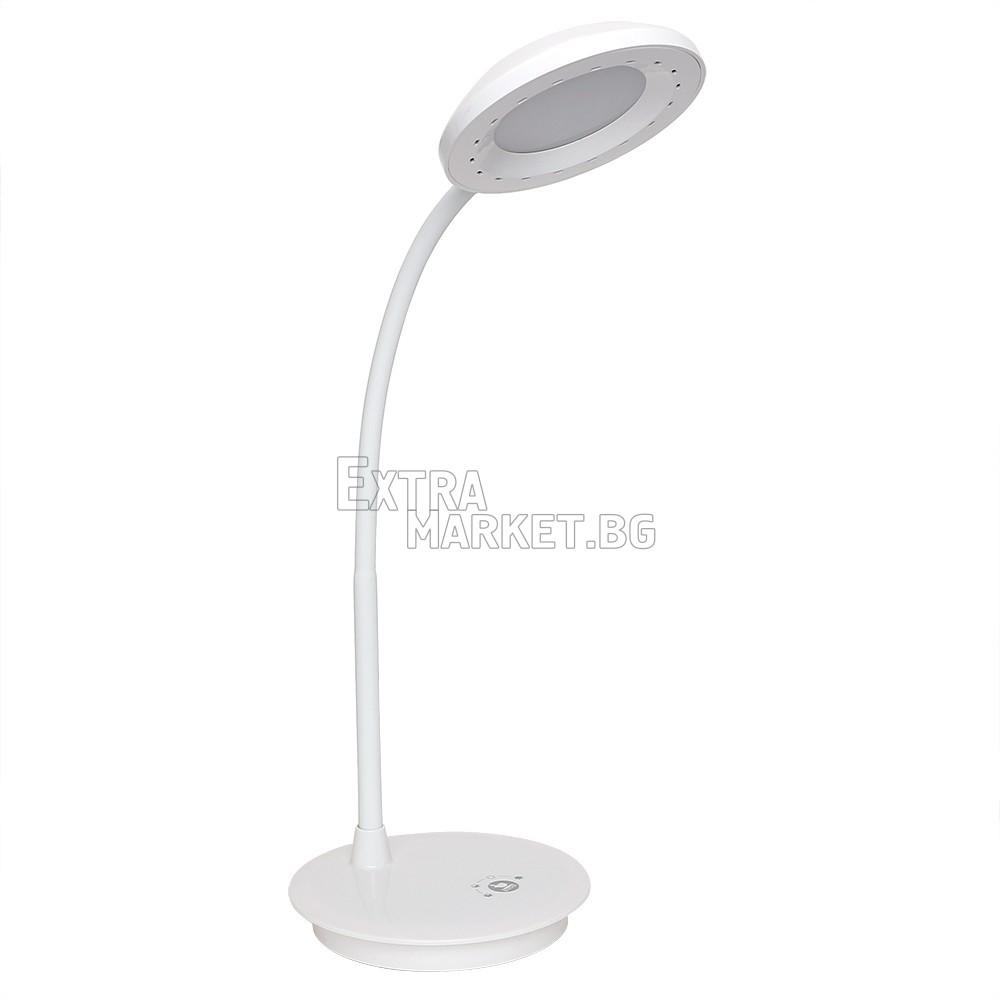 Гъвкава (Кръг) LED лампа за бюро с USB зареждане и тъч контрол