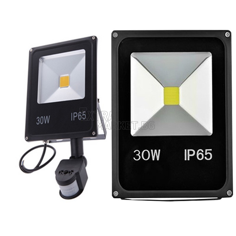 Led прожектор със сензор за движение 30W (Влагозащитен)