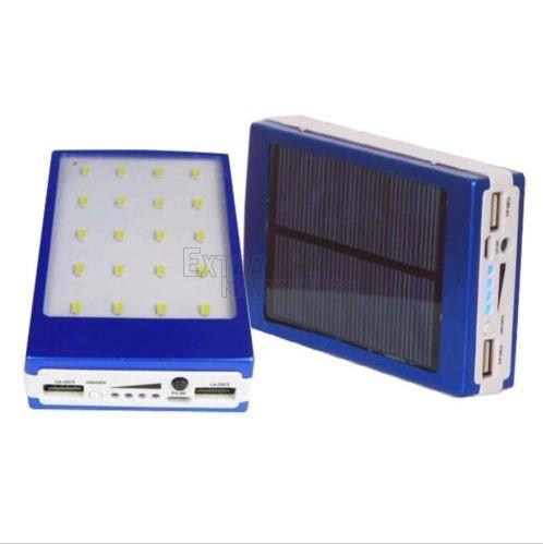 POWER BANK-Батерия 60 000 mAh 20 LED диода панел+соларно зареждане