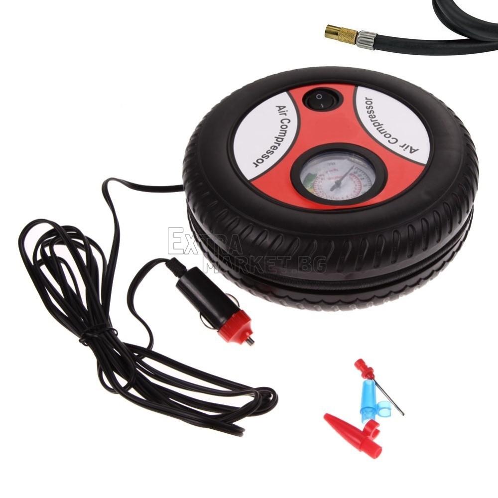 Авто компресор-форма на гума на 12V