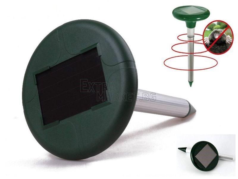 Соларен уред за прогонване на подземни вредители