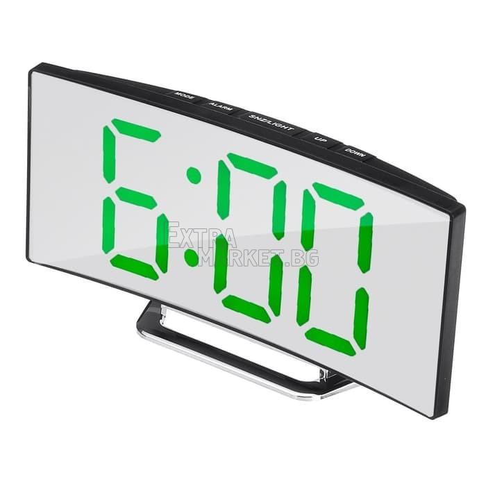 LED извит цифров огледален часовник