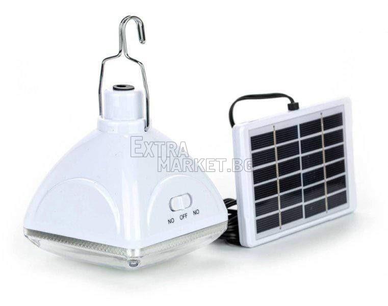 Соларна 20 LED лампа с вграден акумулатор
